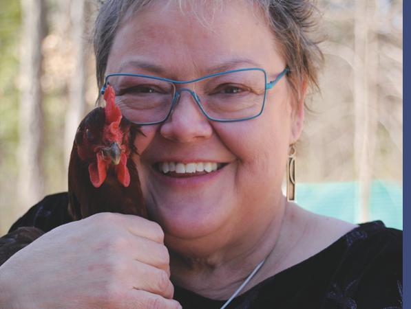 Linda and chicken